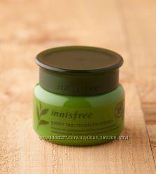 Крем для лица с экстрактом зеленого чая для сухой кожи  Innisfree Green tea