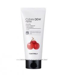 Пенка для умывания с ацеролой Tonymoly Clean Dew Foam Cleanser 180 мл