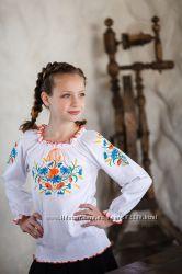 Вышиванка для девочек с длинным рукавом