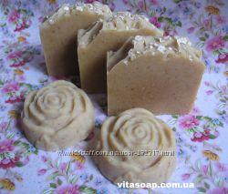 Мыло натуральное Молочно-медовое