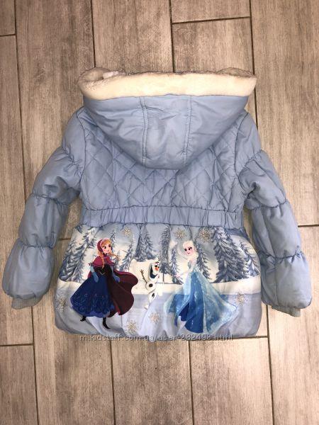 Красивая, демисезонная курточка TU  Frozen Disney 3-4 года