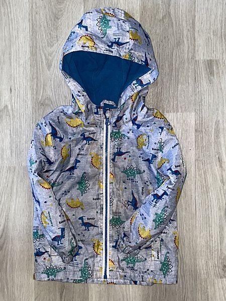 красивая курточка, ветровка Matalan с любимыми динозавриками 3-4 года