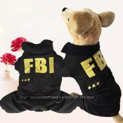 Фби Комбинезон на синтепоне утепленный дождевик для собак щенков одежд