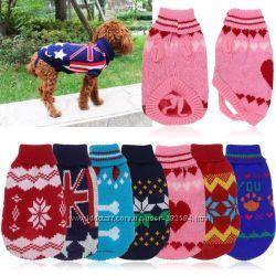 Тёплый Свитер кофта реглан  одежда для  собак котов щенков котят