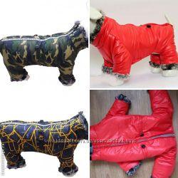 Зимний, для средних собак толстый теплый комбинезон для джека рассела, буль