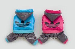 Адидас Зима теплый непромокаемый комбинезон для собак котов одежда
