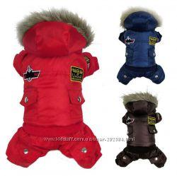 3 цвета 5 размера Зима   на меху комбинезон для собак одежда