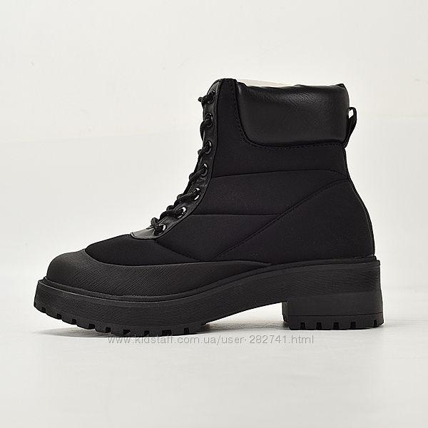 Стеганые ботинки на массивной подошве Zara winter collection