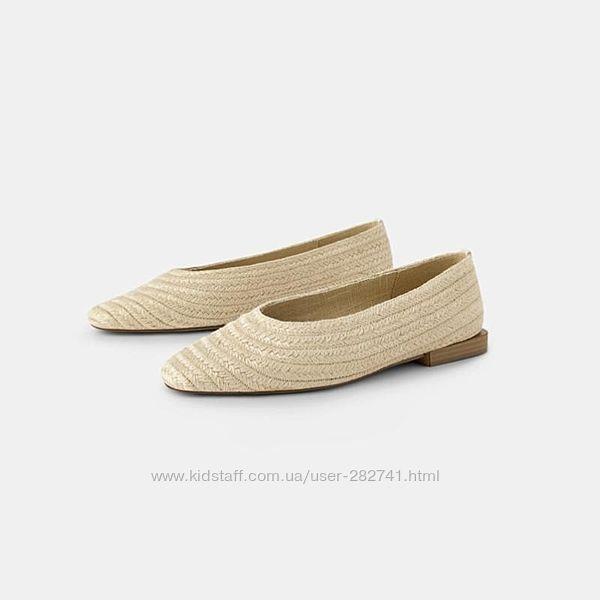 Плетеные, соломенные туфли, мюли от Zara trafaluc
