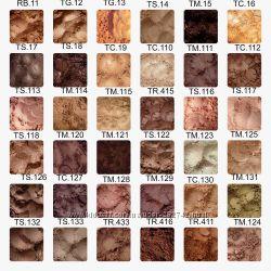 Минеральные тени-шиммер. Коричневые, бежевые, персиковые оттенки