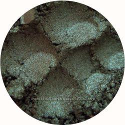 Минеральные тени-шиммер. Зеленые оттенки