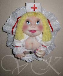 Кукла-попик на УДАЧУ- врач, медсестра