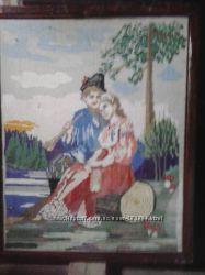 Дуже велика картина хрестиком 1 метр Закохані
