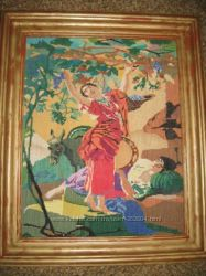 Картина Дівчина збирає виноград
