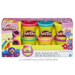 Набор Плей До 6 баночек с блестками Play-Doh Sparkle Compound Collection