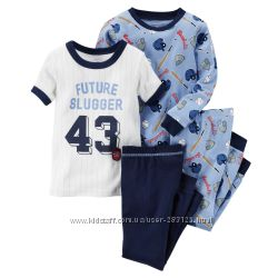 цена за 2  пижамы или домашняя одежда картерс 3т и 4т