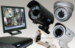 монтаж видеонаблюдения, установка, видеокамеры, видеодомофон, сигнализация