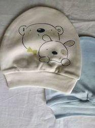 Шапочки для новорожденного 2 шт