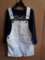 Новый стильный джинсовый сарафан Tezenis  Италия на 6-7 лет