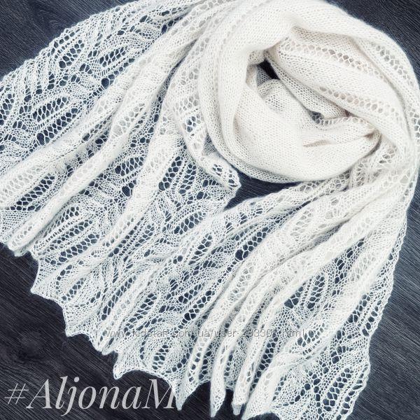 Ажурный палантин-шарф ручная работа