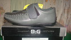 Туфли-мокасины для модника B&G, новые, кожа. размер 27