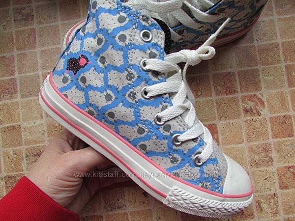 кеды Converse All Star для девочки с барашками длина по стельке 21,2 см