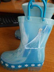 сапоги резиновые Disney Frozen мигают при ходьбе по стельке 14,5 см