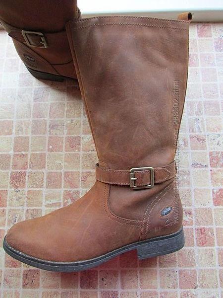 сапоги кожаные для девочки Clarks Gore-Tex длина по стельке 23,5 см Оригина