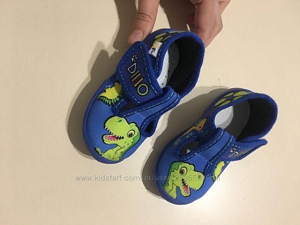 Детские тапочки 3f дино