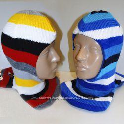 Продам теплые зимние шлемы двухслойные Модель Полосатый рейс