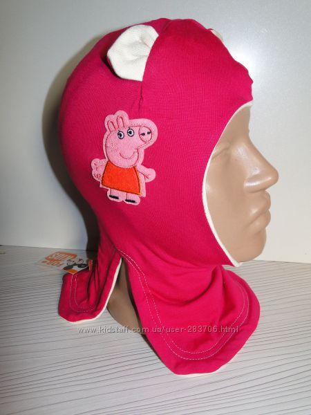 Продам демисезонные трикотажные двухслойные шлемы модель Пеппа