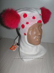 Продам демиcезонные и теплые зимние шлемы двухслойные Модель Горошек