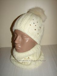 Продам демиcезонные и зимние шапки-шарфики двухслойные модель Эльза