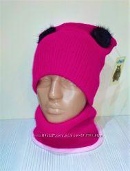 Продам демиcезонные и зимние шапки двухслойные модель Кошка
