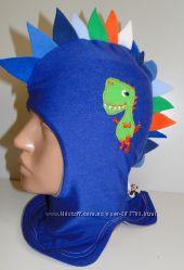 Продам демисезонные трикотажные двухслойные шлемы модель Динозаврик