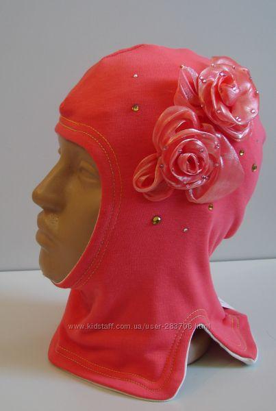 Продам демисезонные трикотажные двухслойные шлемы модель Розочки