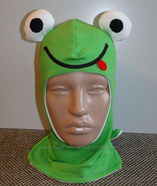 Продам демисезонные трикотажные двухслойные шлемы модель Лягушонок