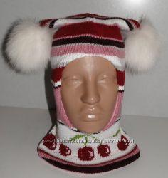 Продам теплые зимние и деми-еврозима шлемы двухслойные Модель Ягодки