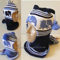Продам теплые зимние и деми-еврозима шлемы двухслойные Модель Слоники