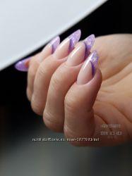 Наращивание коррекция ногтей Арочный квадрат Миндаль Балерина Троещина гель