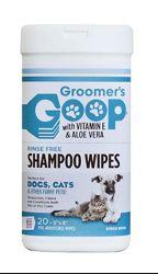 Groomers Goop Glossy Coat Rinse Free Shampoo Wipe