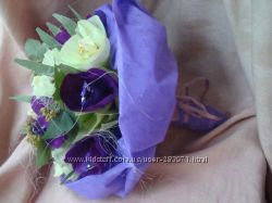 Букет из конфет Фиолетовое настроение