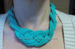 Ожерелье из бисера в стиле бохо. Красивые цвета.