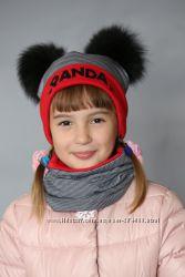 Зимние шапки для девочек от Украинского производителя
