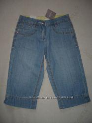 Детские джинсовые шорты до колена NEXT для девочки. р. 122.