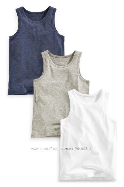 Серый, темно-синий Комплект из двух маек Next.