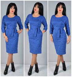 Стильное платье мод. 193н р. 44-46, 48-50, 52-54, 56-58