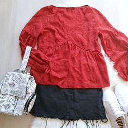 Новая блуза кирпичного цвета