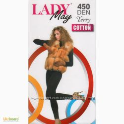 колготки женские хб Lady May Cotton 350 Den, 1, 2, 3, 4 р.