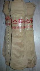 капроновые носочки с тормозами беж